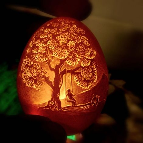 Illuminated Egg Art