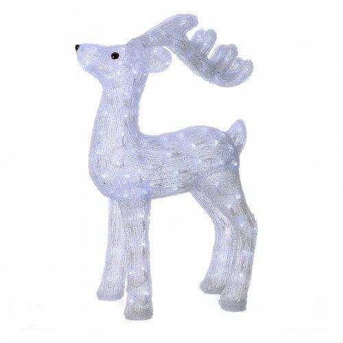 Decoro natalizio renna 200 led bianco ghiaccio interno for Vendita led online