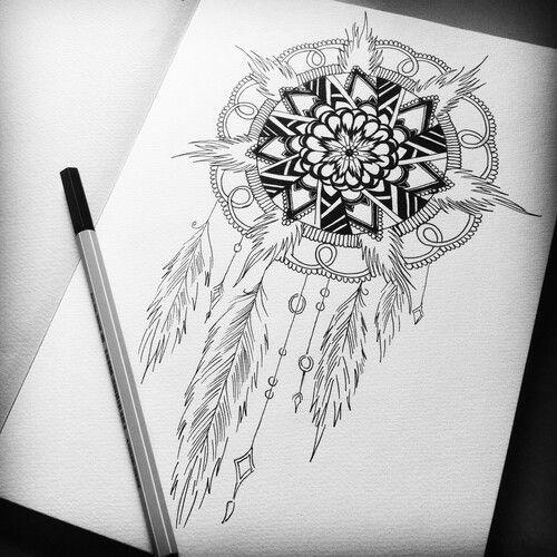 Dream Catcher Drawing Dreamcatcher Drawing Mandala Art Zentangle Art