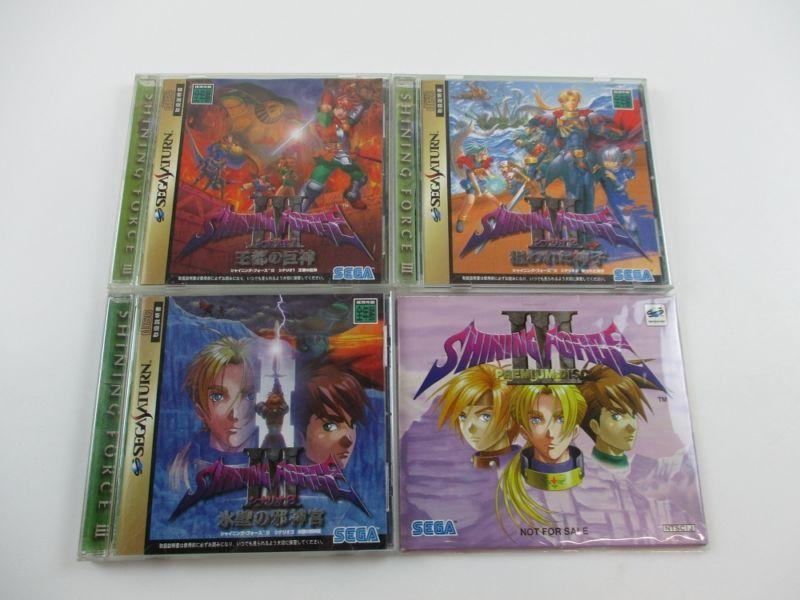Lot of 4 Shining Force 3 Games JPN #retrogaming #HotSS