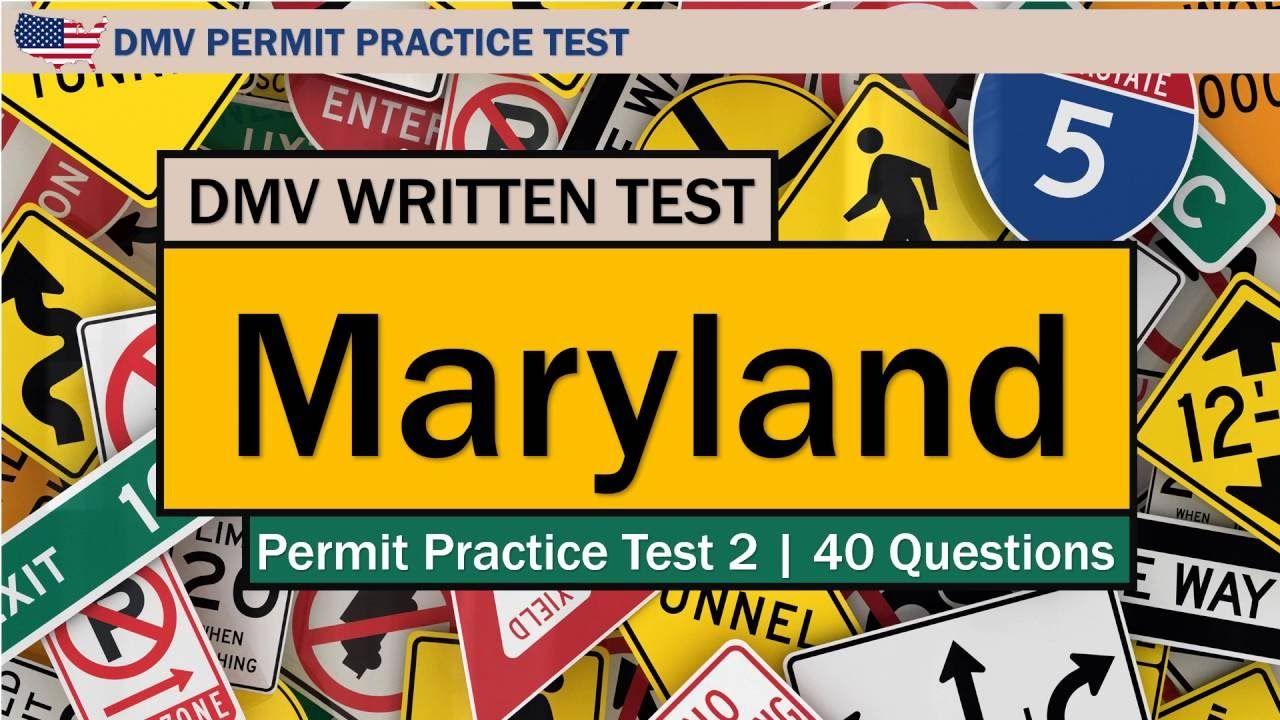 DMV written test Maryland Permit Practice Test 2 | DMV