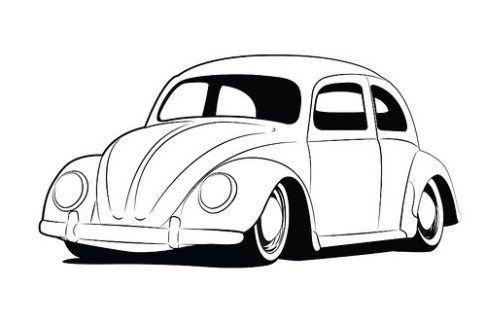 Dibujos e Imágenes de Vochos para Colorear e Imprimir   coches en ...
