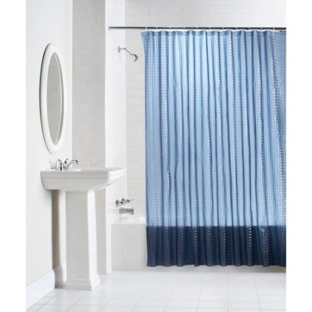 Mainstays Lenticular Solid Color Peva Shower Curtain Collection Glass Block Shower Small Bathroom Remodel Bathroom Shower Curtains