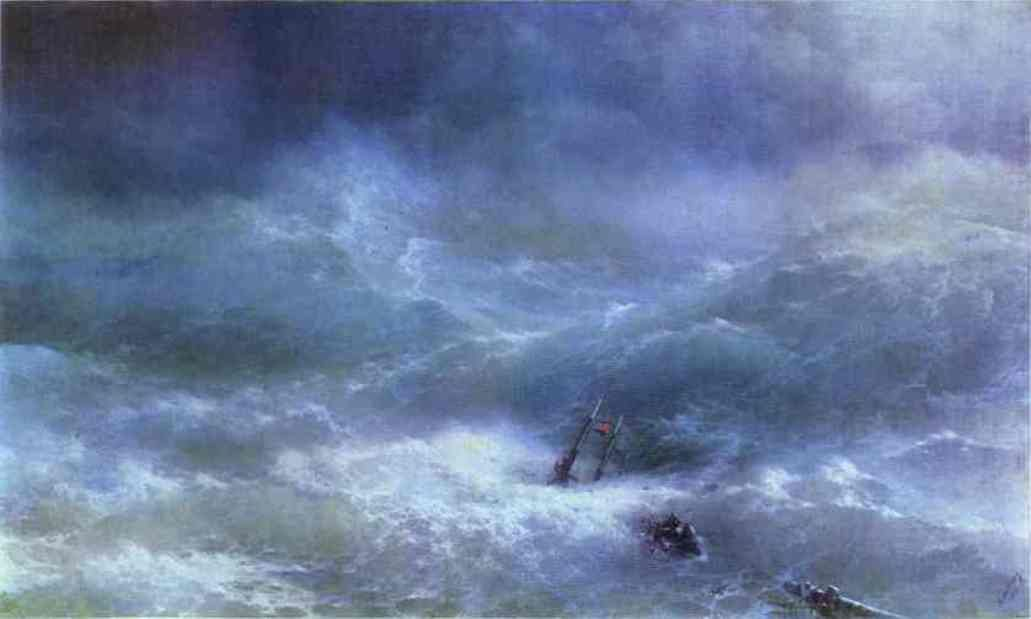 The Billow - Ivan Constantinovich Aivazovsky (1889) The State Russian Museum - Saint Petersburg Painting - oil on canvas