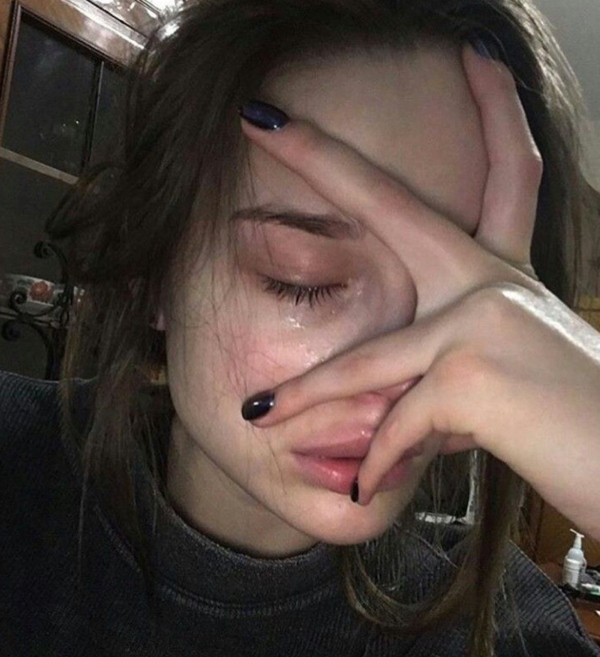 Sad Aesthetic Girl Crying