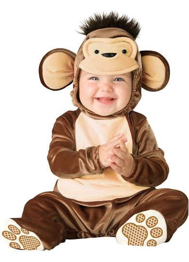 Cute Little Monkey Baby Jumpsuit Animal Jungle Infant Toddler Costume