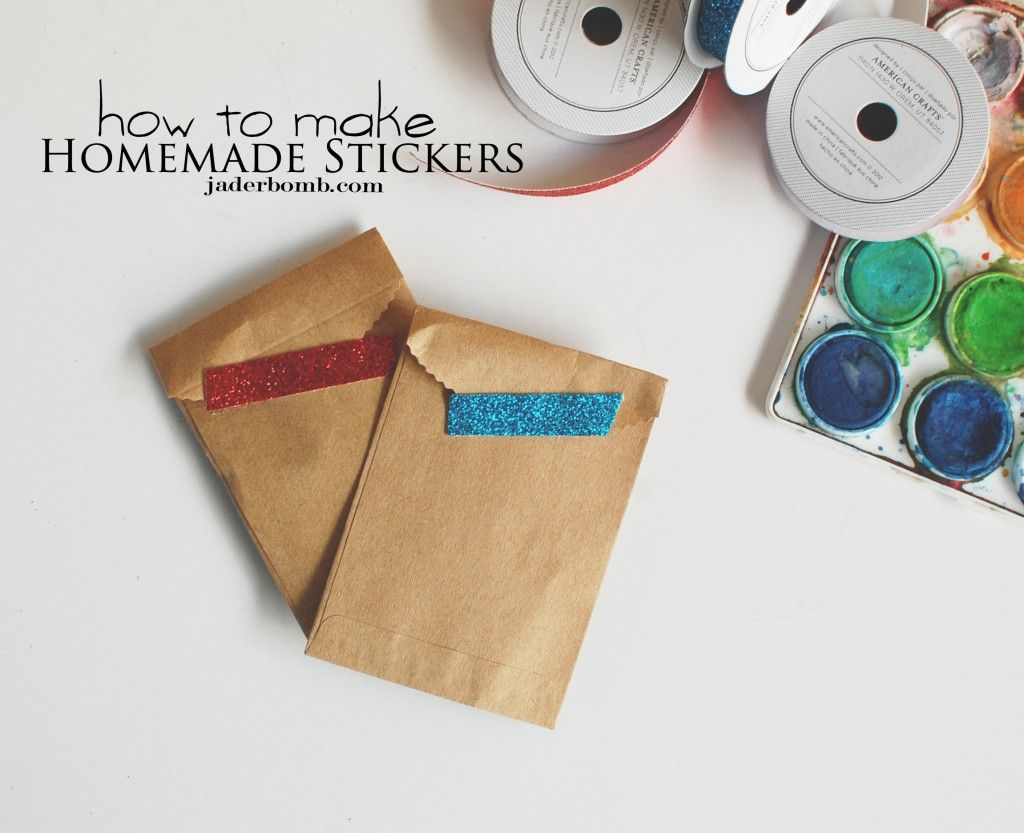 Great How To Make Homemade Stickers WHAT