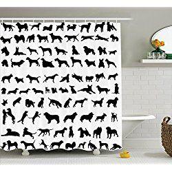 Dog Shower Curtains Dog Lover Decor Dog Shower Bathroom Decor Sets