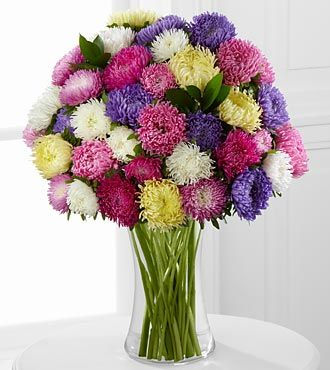 Dream A Little Dream Kralen Aster Bouquet Spring Flower Arrangements Purple Flower Bouquet Flower Arrangements
