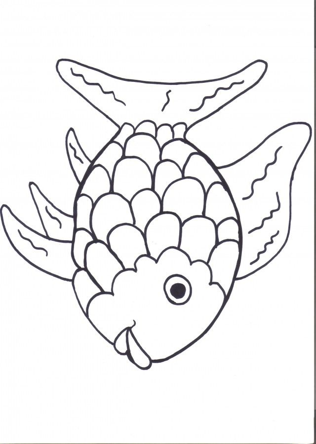 Free Rainbow Fish Template Pdf 2 Page S Vbs Crafts Preschool