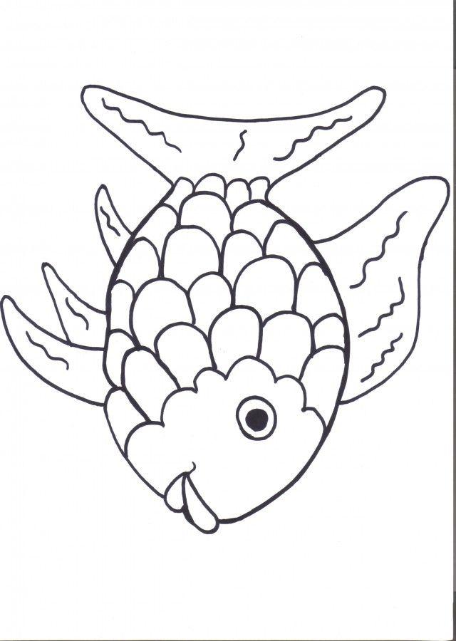 Rainbow Fish Printables August Preschool Themes Child Care 276602 - rainbow template