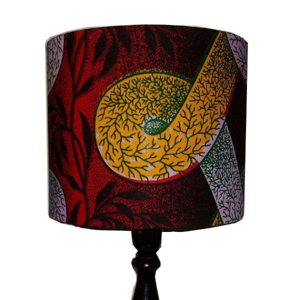 Tropical red african handmade lampshade red yellow green 25cm drum tropical red african handmade lampshade red yellow green 25cm drum lamp shade 3500 aloadofball Choice Image