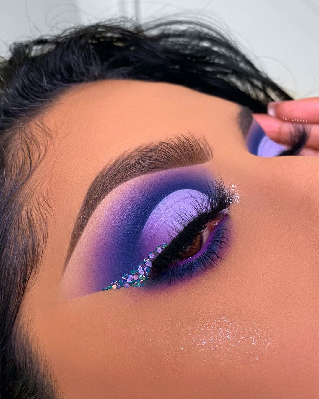 """Certified Makeup Artist on Instagram: """"☔️PURPLE RAIN☔️ - 🇺🇸: I'm obsesseddtttt😢 So so happy with how this turned out; exactly what I saw in my head🤩 - 🇲🇽: Estoy obsesionada con…"""""""