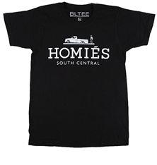 Black Homies Tee with White Ink