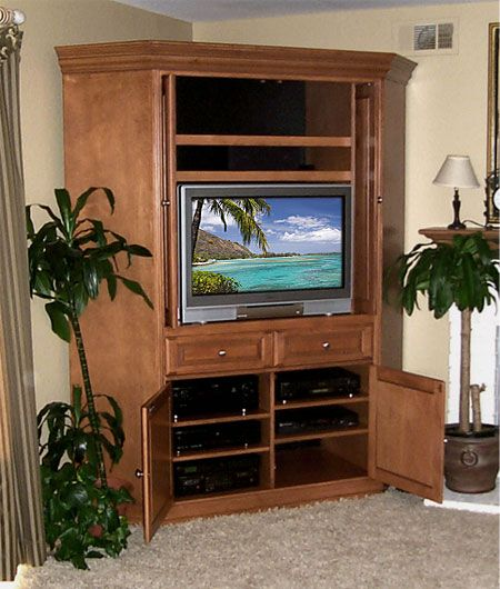 Image Detail for - Custom Corner Entertainment Center - Corner TV Cabinet - Custom ...