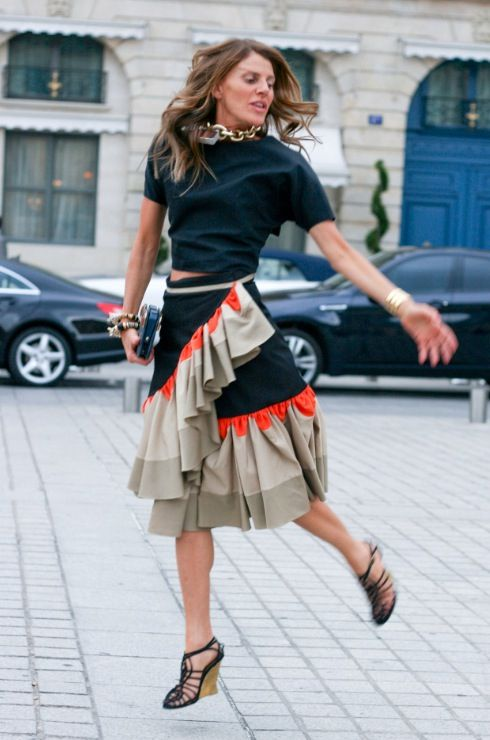 always excited to see what Anna Dello Russo wears at Fashion Week