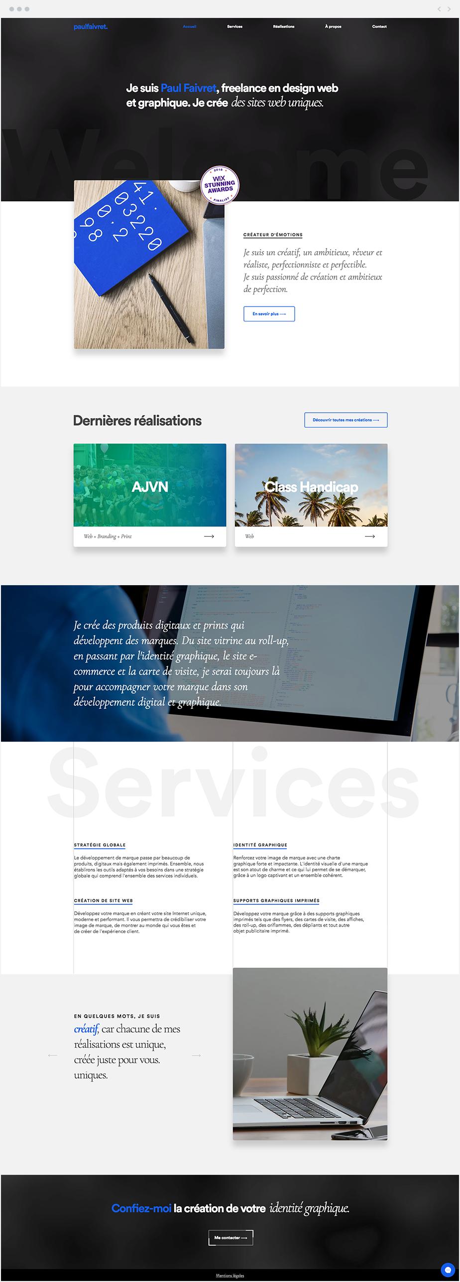 Paul Faivret Graphic Designer In 2020 Beautiful Websites Design