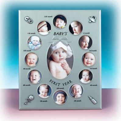 my first year pewter baby collage frame nuptial knick knacks a