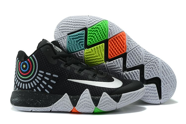 17472927d599 2017 New Nike Kyrie 4 Black White Grey Shoes