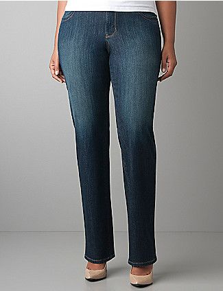 Genius Fit™ straight leg jean | Lane Bryant