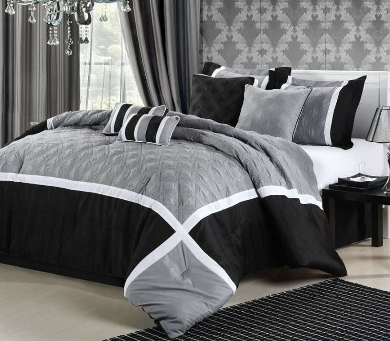 Marvelous Find This Pin And More On Luxury Home Bedding Luxury Home Quincy Grey 8  Piece Comforter Set Out Of Stock