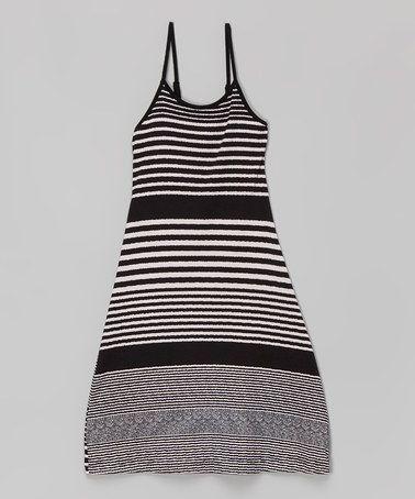 Another great find on #zulily! Black Stripe Maxi Dress - Toddler & Girls #zulilyfinds