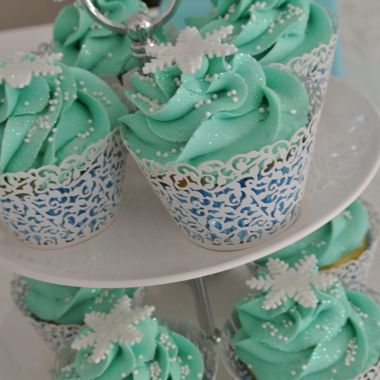 Frozen Cupcakes Snowflake FROZEN themed snowflak...