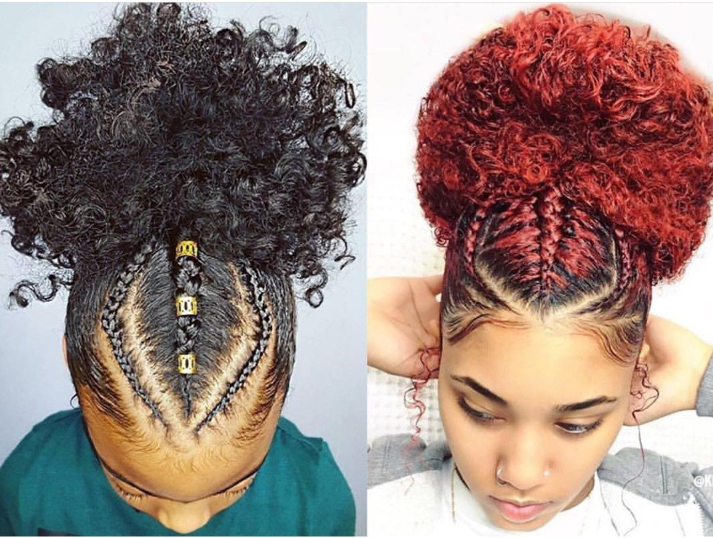 Three Braids Going Up Into A Ponytail Natural Hair Styles Easy Natural Hair Styles Black Girl Braided Hairstyles