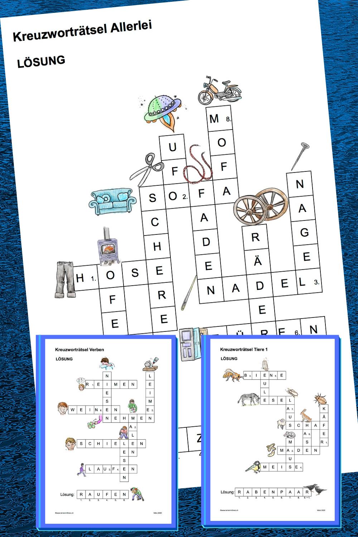 3 Einfache Kreuzwortratsel Kreuzwortratsel Wortschatz Worter