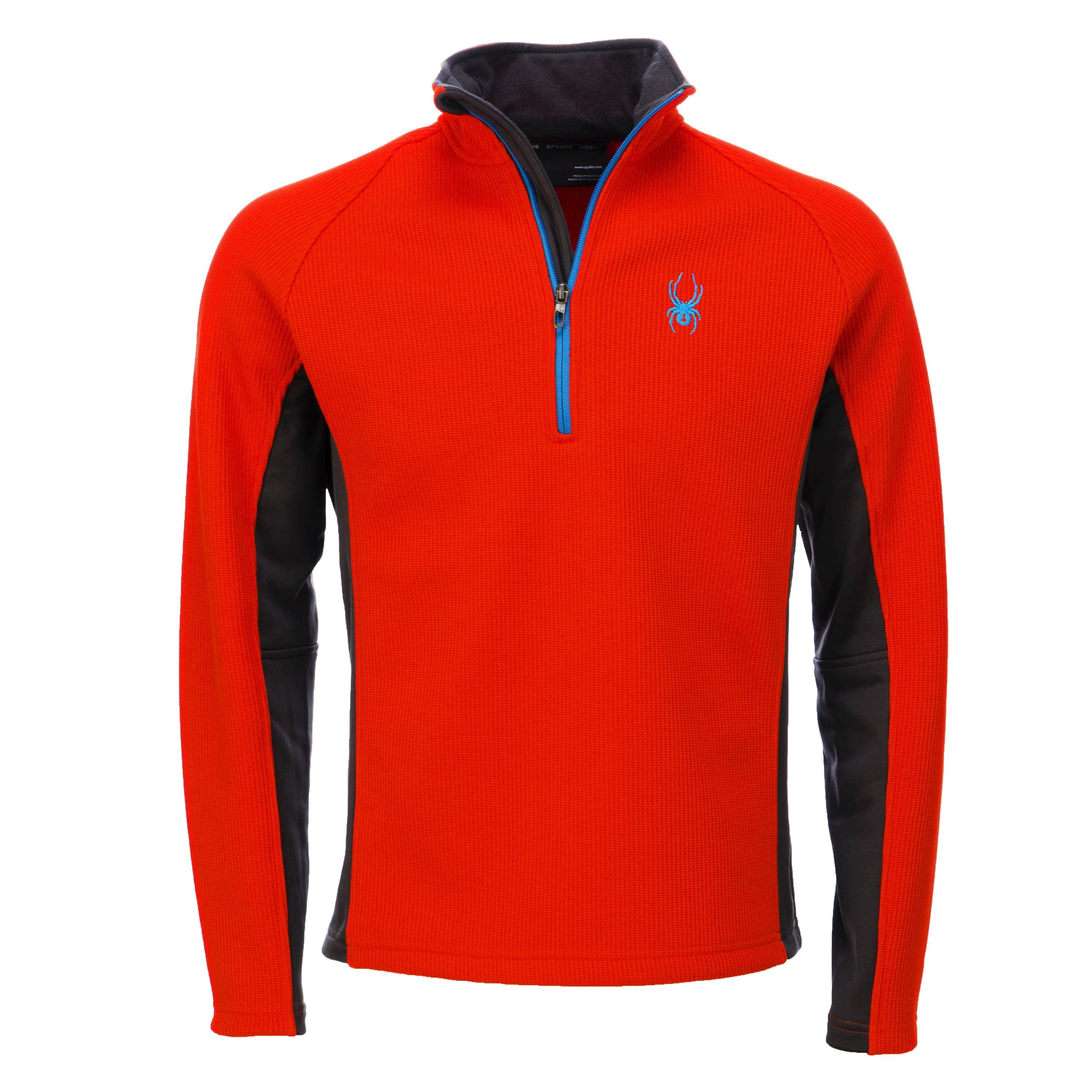 The soft fleece sweater has a warm collar to keep you warm It is a