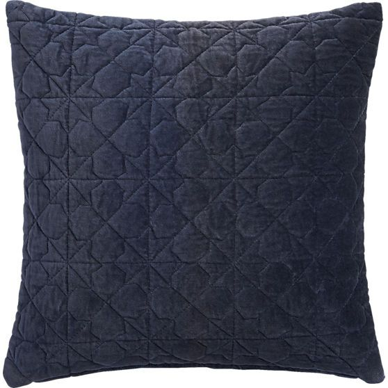 August Quilted Navy 40 Pillow CB40 Mountainview Pinterest Extraordinary Cb2 Decorative Pillows