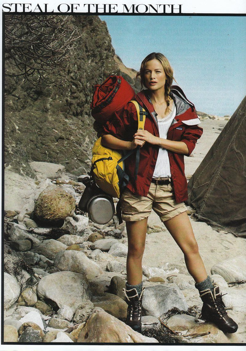 out of the wilderness american vogue  hiking outfit