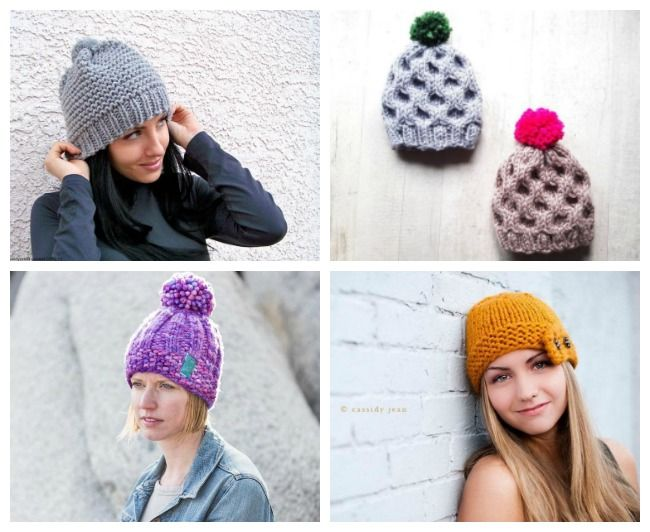Roundup: 12 knitting patterns for chunky hats via Craftsy #ad ...