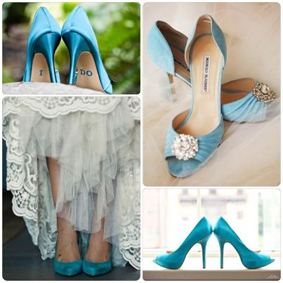 zapatos de novia color turquesa #azul #boda wedding #shoes | ideas