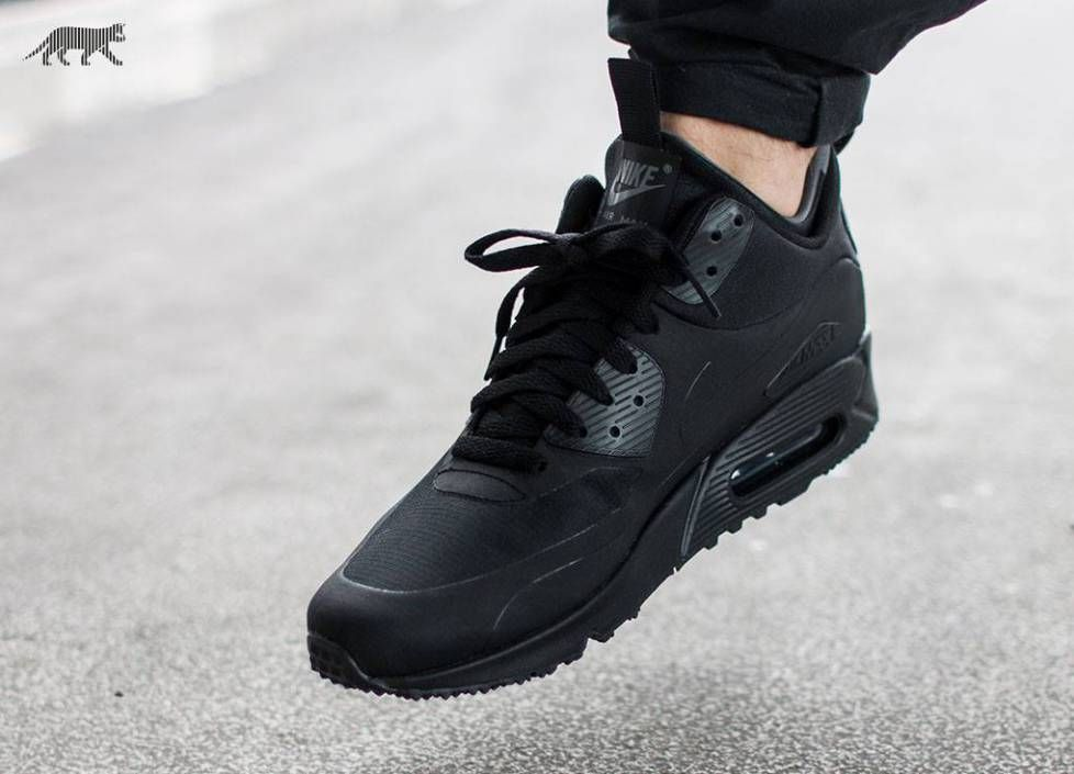 JUST LIFE STYLE™®: Nike Air Max 90 Mid Winter 'Black Black