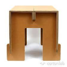 Afbeeldingsresultaat voor cardboard stool
