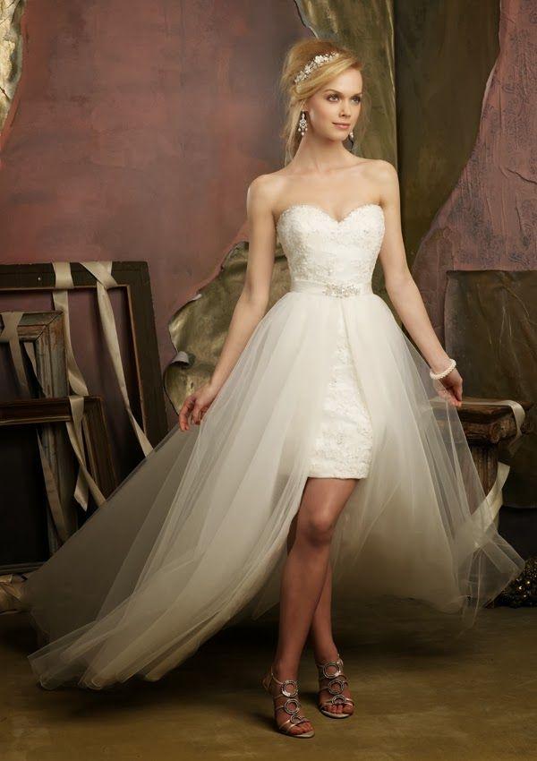 20 increíbles vestidos de novia cortos | vestidos de novia