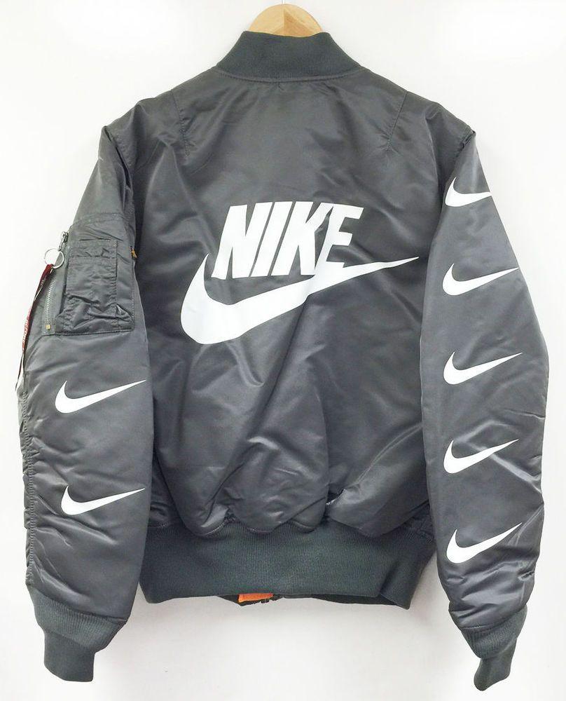 Alpha Industries X Nike (MA1 Bomber)   outfits   Jackets, Nike, Nike ... 5e53d601ec