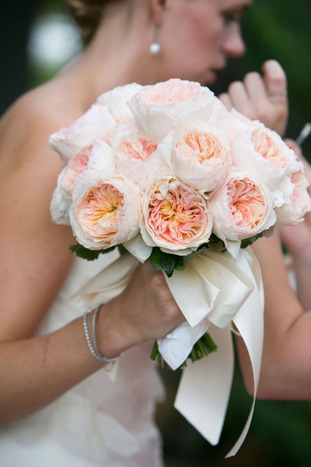brides soft romantic flowers for an elegant garden wedding flowers by felicity banford - Blush Garden Rose Bouquet