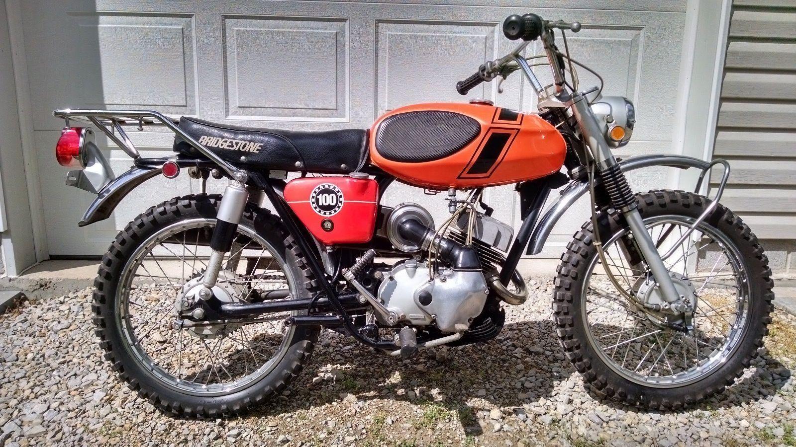 Original Owner 1971 Bridgestone 100 Tmx Bridgestone Motorcycle Culture Japanese Motorcycle
