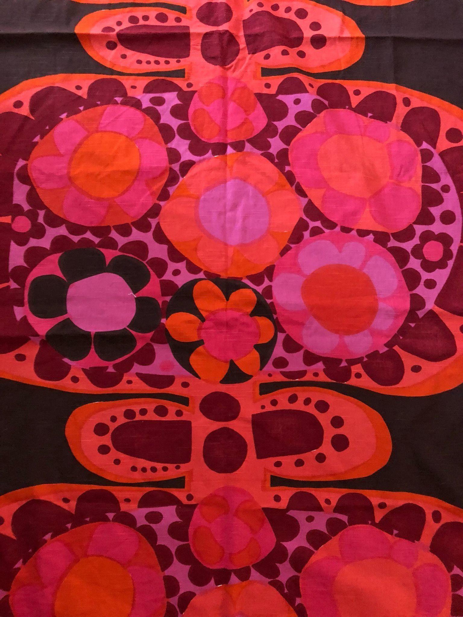 60e720405e4b Tyg retro vintage 60-tal Mykero Saini Salonen Borås Cotton | textile ...