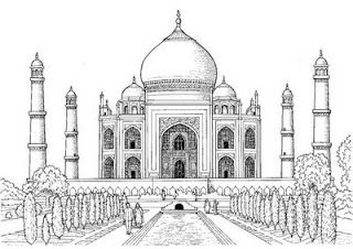 Pencil Sketch Of Taj Mahal With Images Taj Mahal Drawing
