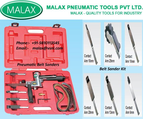 Malax India Pneumatic Belt Sanders,Pneumatic Belt sander kit Suppier In India... http://www.malaxindia.com/products.php