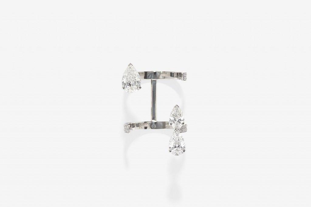 Serti Sur Vide by Repossi | white gold and diamonds ring