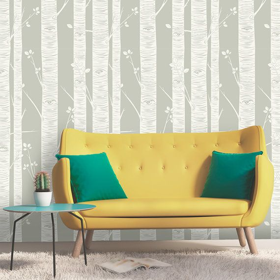 Birch Tree Wallpaper Peel and Stick Wallpaper