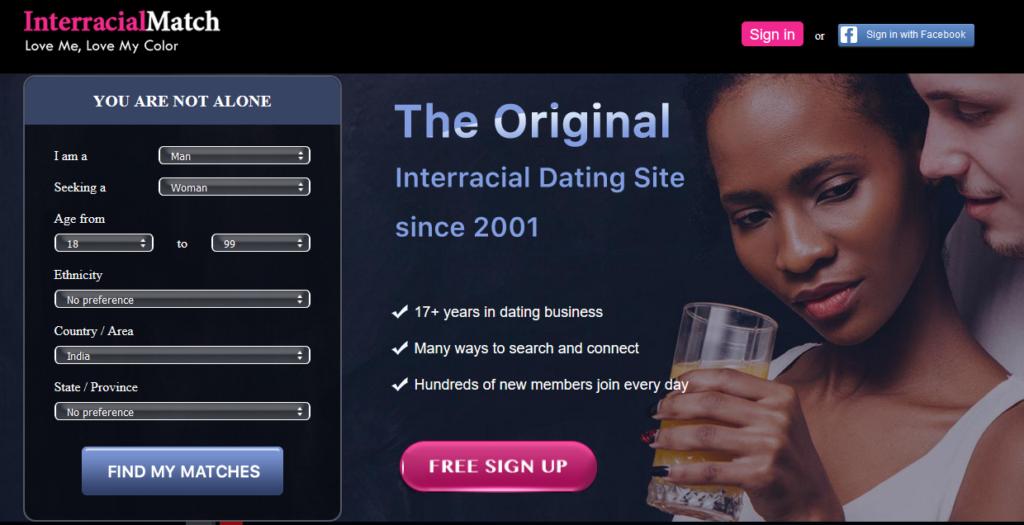 Top five interracial dating sites