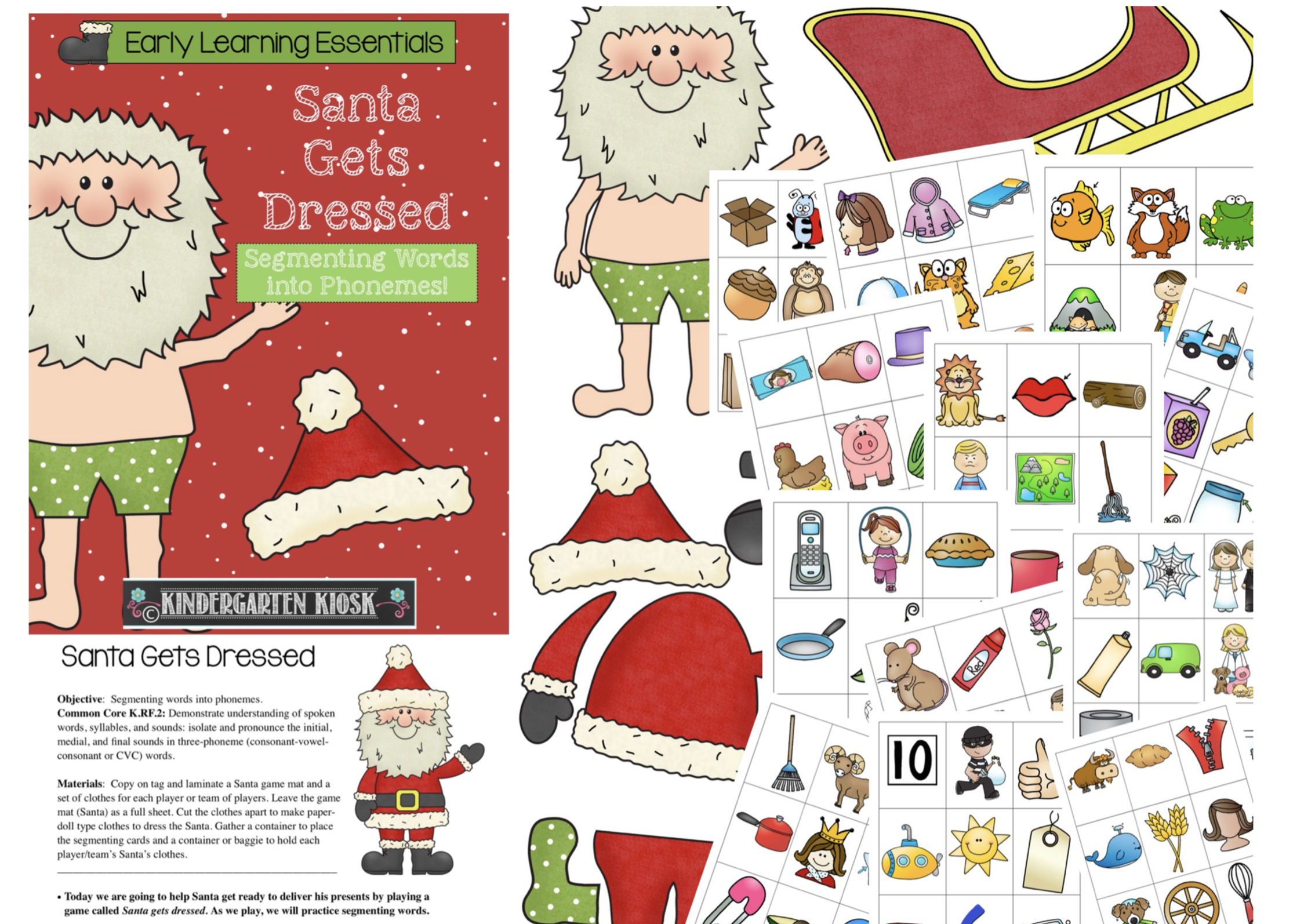 Phoneme Segmentation Activities Santa Gets Dressed
