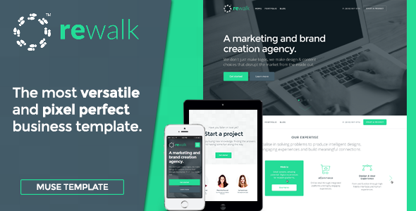 ReWalk - Business Adobe Muse Template | Pinterest | Adobe and Template
