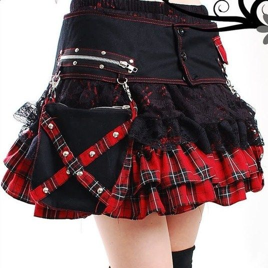 Pocket Side Tartan Rara Skirt