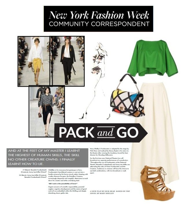 NYFW by janicevc on Polyvore featuring polyvore fashion style Maison About Jenny Packham Roger Vivier women's clothing women's fashion women female woman misses juniors NYFW Packandgo
